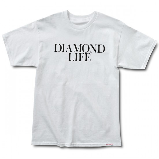 Diamond Supply Co. Diamond Life T-Shirt - White