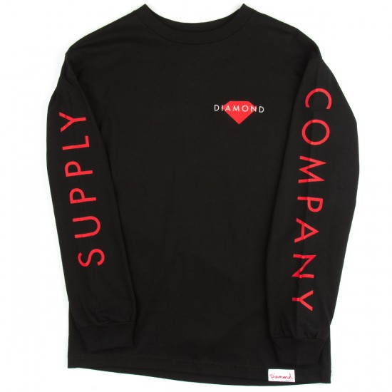 Diamond Supply Co. Diamond Solid Long Sleeve T-Shirt - Black