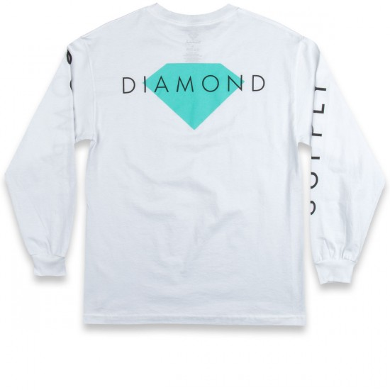 Diamond Supply Co. Diamond Solid Long Sleeve T-Shirt - White
