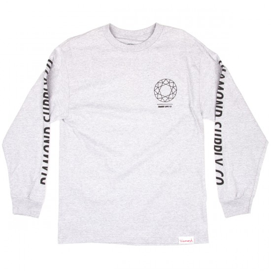Diamond Supply Co. DTC Long Sleeve T-Shirt - Heather Grey