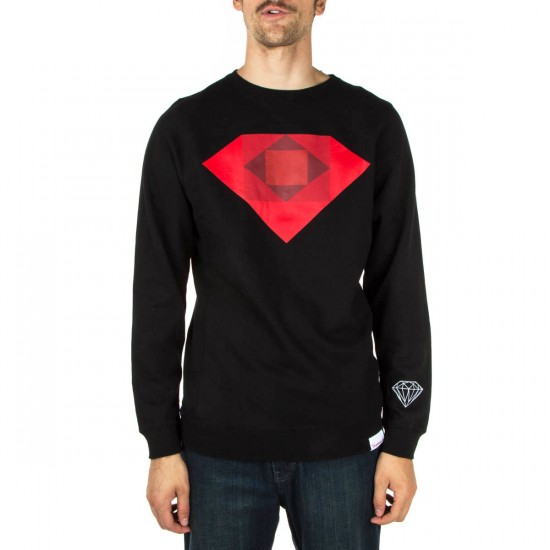 Diamond Supply Co. Emerald Rotoscope Crewneck Sweatshirt - Black