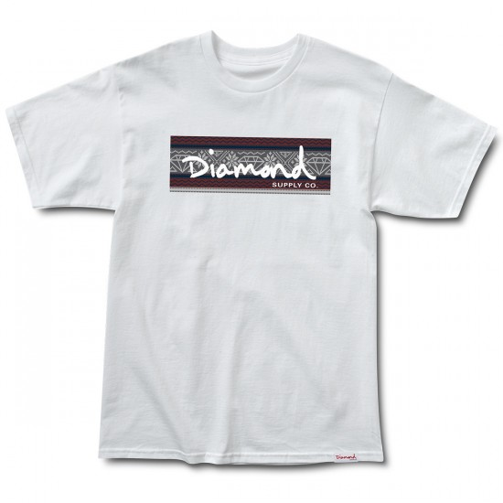 Diamond Supply Co. Fairisle Box Logo T-Shirt - White