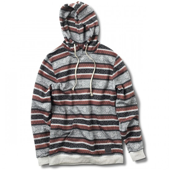 Diamond Supply Co. Fairisle Hooded Pullover Hoodie - Burgundy