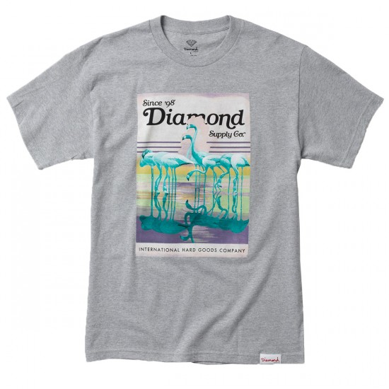 Diamond Supply Co. Flamingo T-Shirt - Heather Grey