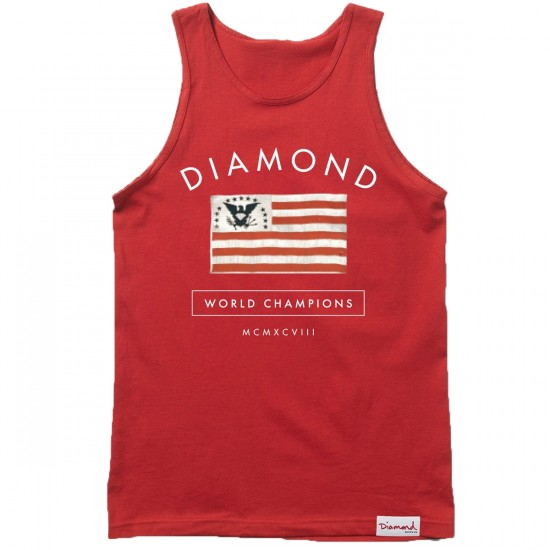 Diamond Supply Co. Founders Tank Top - Red