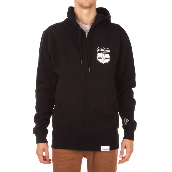 Diamond Supply Co. Game Patch Zip Hoodie - Black