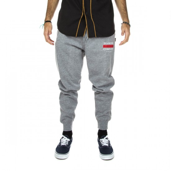 Diamond Supply Co. Hardware Stack Sweat Pants - Heather Grey