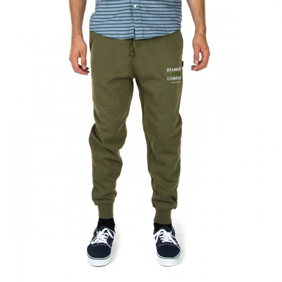 Diamond Supply Co. Hardware Stack Sweat Pants - Military Green