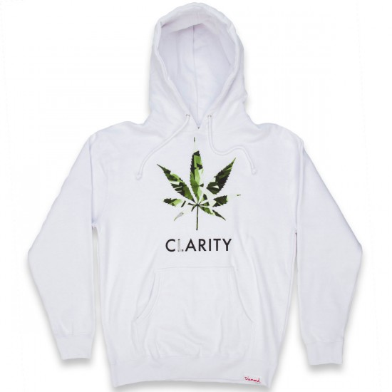Diamond Supply Co. High Clarity Pullover Hoodie - White