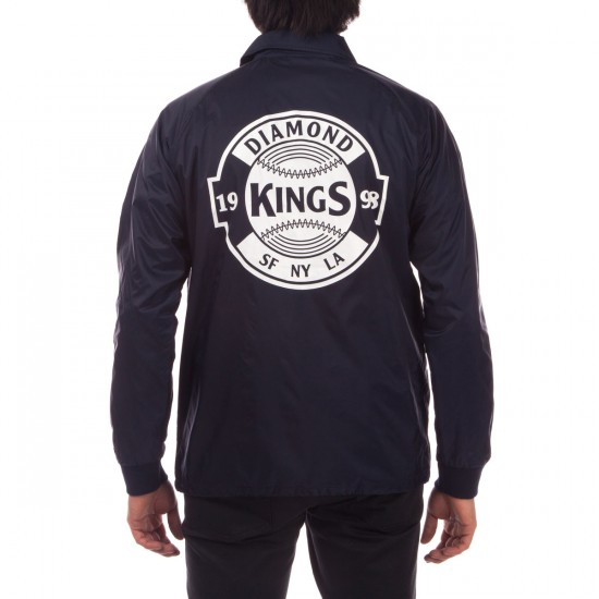 Diamond Supply Co. Kings Crest Coach's Jacket - Navy