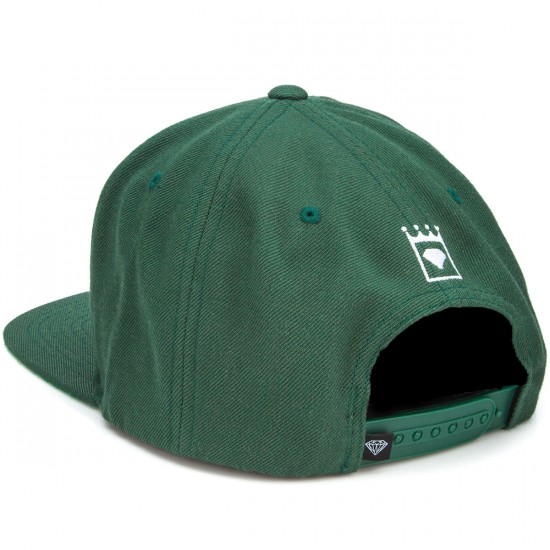 Diamond Supply Co. Kings Crest Snapback Hat - Green