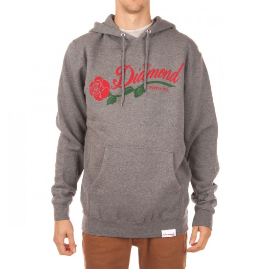 Diamond Supply Co. La Rosa Hoodie - Gunmetal Heather
