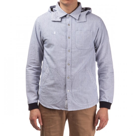 Diamond Supply Co. Marquise Hooded Woven Shirt - Blue Chambray