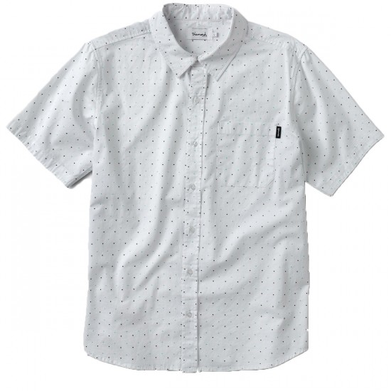 Diamond Supply Co. Micro Diamond Short Sleeve Woven Shirt - White