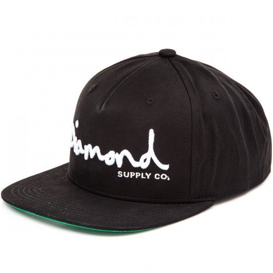 Diamond Supply Co. OG Script 2016 Snapback Hat - Black