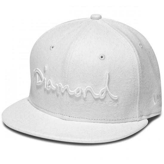 Diamond Supply Co. OG Script Fitted Hat - White