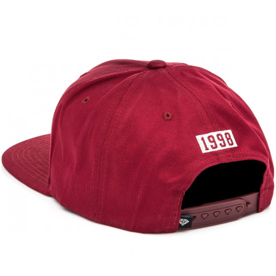 Diamond Supply Co. OG Script Snapback Hat - Burgundy