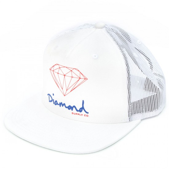Diamond Supply Co. OG Script Snapback Hat - White