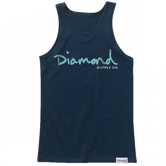 Diamond Supply Co. OG Script Tank Top - Navy