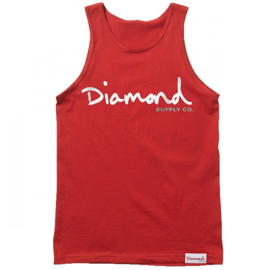 Diamond Supply Co. OG Script Tank Top - Red