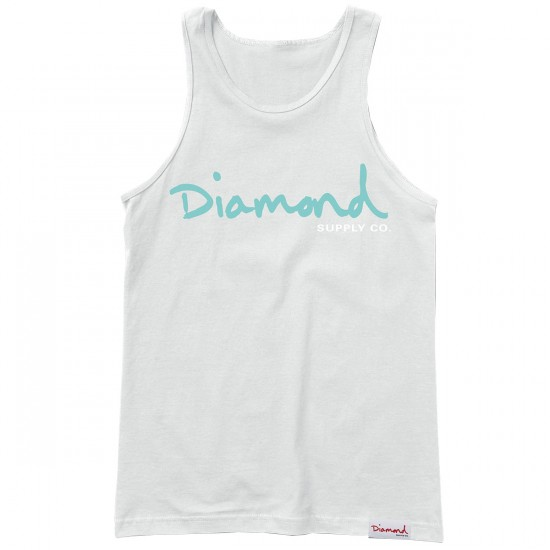 Diamond Supply Co. OG Script Tank Top - White