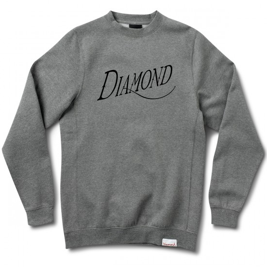 Diamond Supply Co. Old Script Crew Sweatshirt - Heather