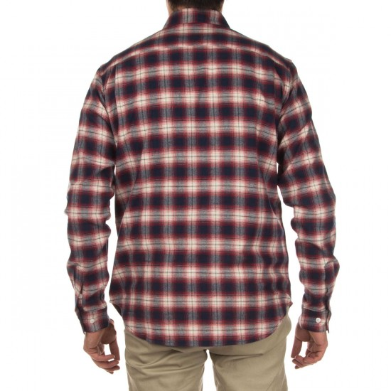 Diamond Supply Co. Ombre Plaid Flannel Shirt - Red