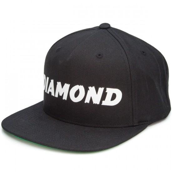 Diamond Supply Co. Painted Snapback Hat - Black