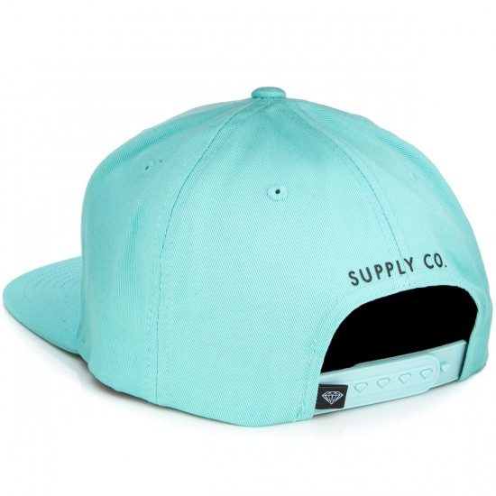 Diamond Supply Co. Painted Snapback Hat - Diamond Blue