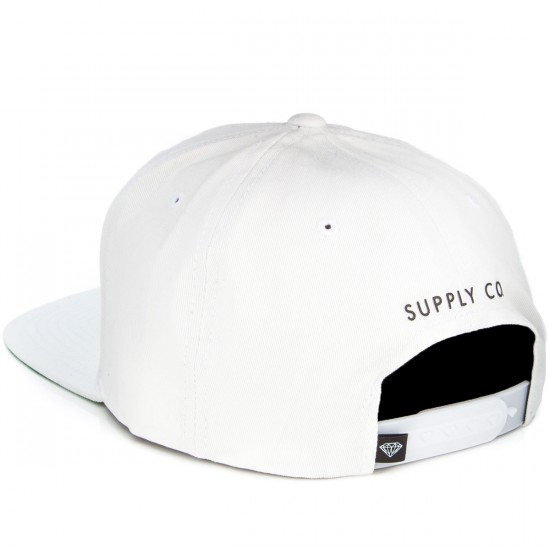 Diamond Supply Co. Painted Snapback Hat - White