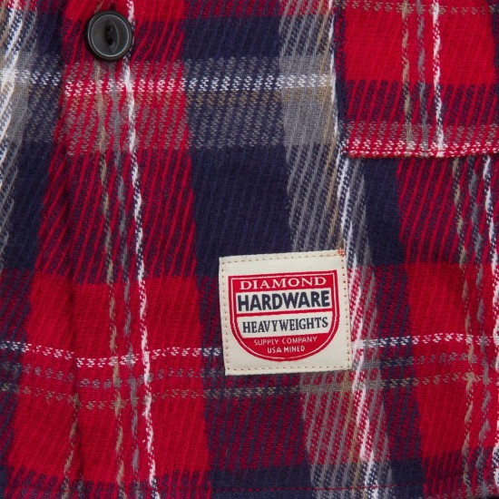 Diamond Supply Co. Plaid Jacket - Red
