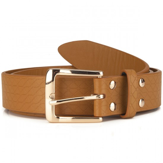 Diamond Supply Co. Quilted Hunting Belt - Golden Brown