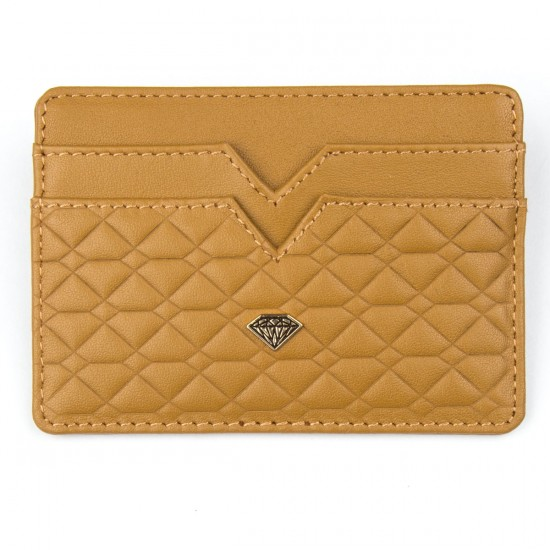 Diamond Supply Co. Quilted Hunting Card & Id Holder Wallet - Golden Brown