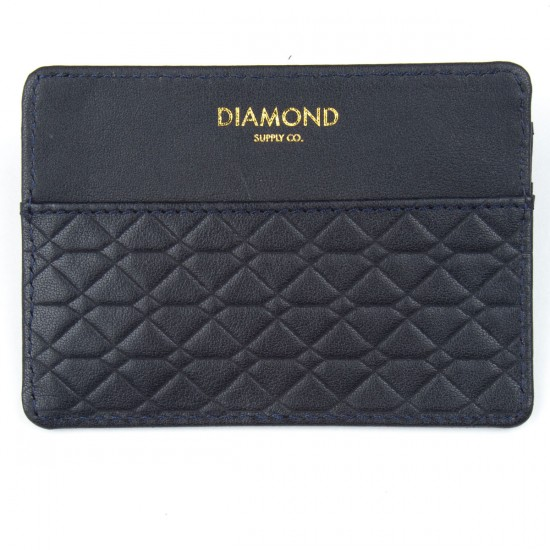 Diamond Supply Co. Quilted Hunting Card & Id Holder Wallet - Navy