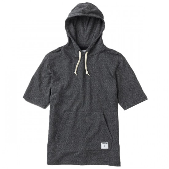 Diamond Supply Co. Speckle Hooded T-Shirt - Black