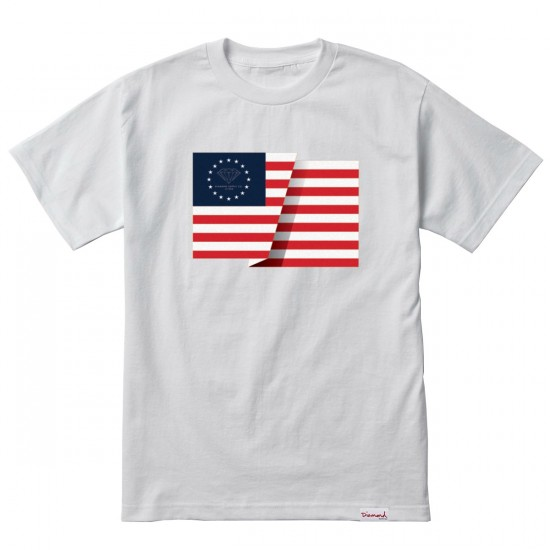 Diamond Supply Co. Split Flag T-Shirt - White