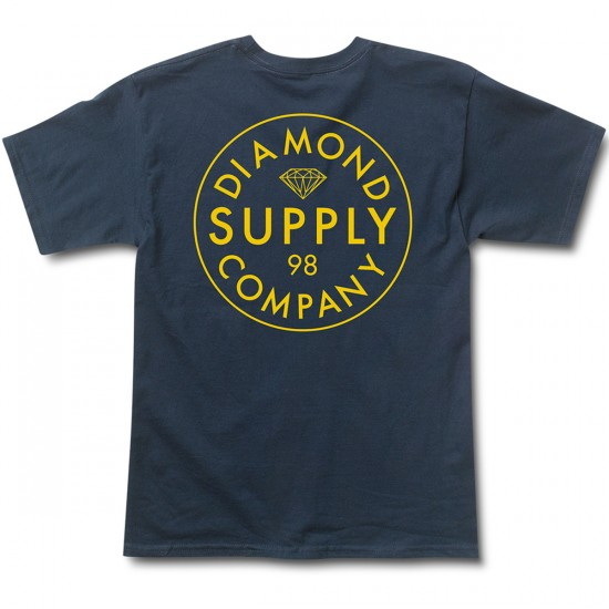 Diamond Supply Co. Stamped T-Shirt - Navy