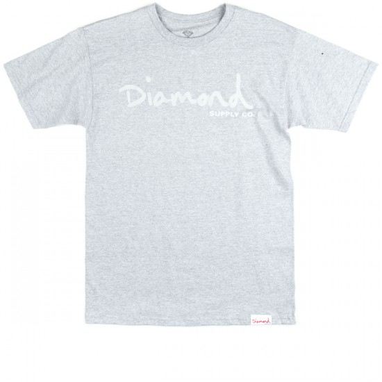 Diamond Supply Co. Tonal OG Script T-Shirt - Athletic Heather
