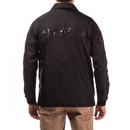 Diamond Supply Co. Tonal UN Polo Coach's Jacket - Black