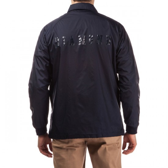 Diamond Supply Co. Tonal UN Polo Coach's Jacket - Navy