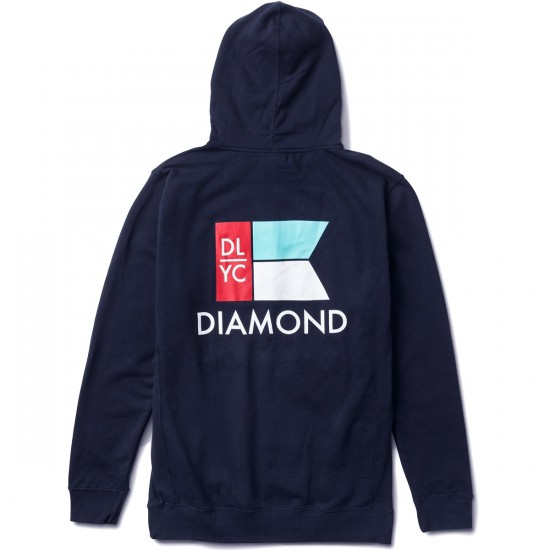 Diamond Supply Co. Yacht Flag Hoodie - Navy