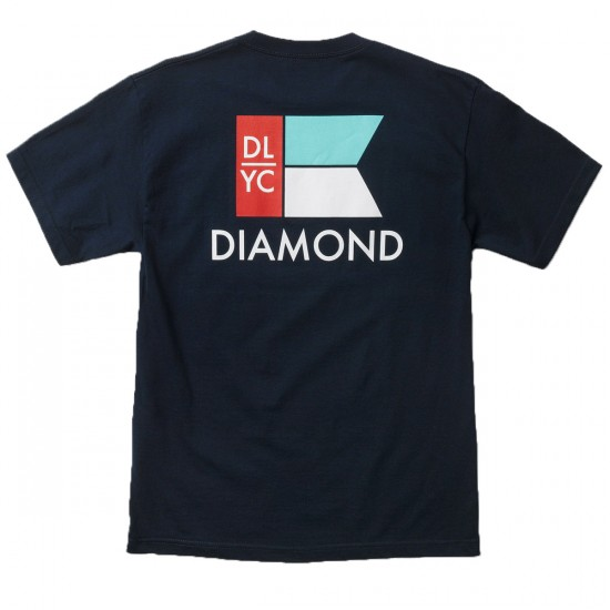 Diamond Supply Co. Yacht Flag T-Shirt - Navy