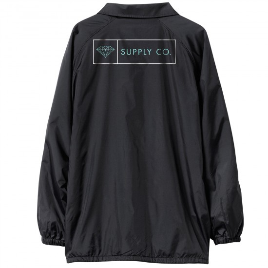 Diamond Supply Co. Boxed In Coach's Jacket - Black