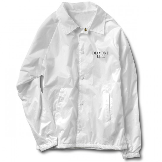 Diamond Supply Co. Life Coach's Jacket - White