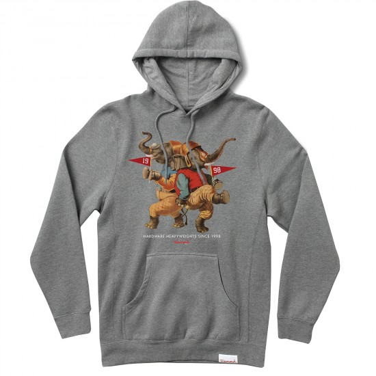Diamond Supply Co. Team Hardware Heavyweights 15 Hoodie - Heather