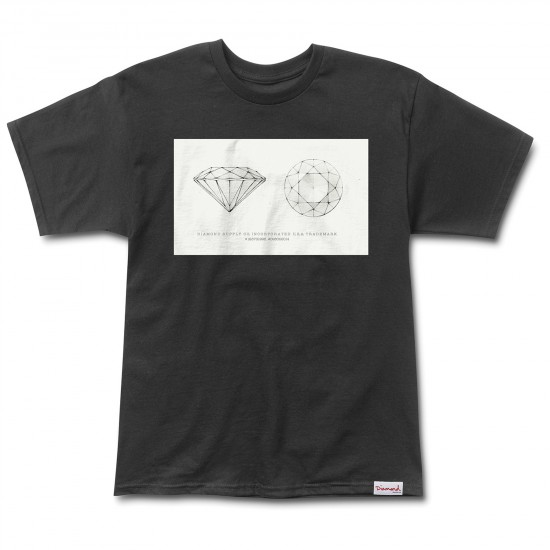 Diamond Supply Co. Trademark T-Shirt - Black
