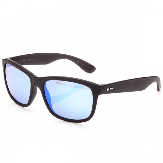 Dot Dash Poseur Sunglasses - Soft Charcoal Sat/Ice Blue