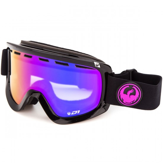 Dragon D1 Snowboard Goggles - Jet/Purple Ion with Yellow Red Ion