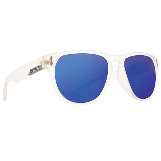 Dragon Marquis Sunglasses - Matte Clear/Blue Ion