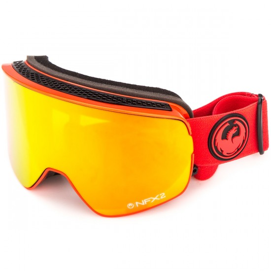 Dragon NFX2 Snowboard Goggles - Bitter/Red Ion with Yellow Red Ion